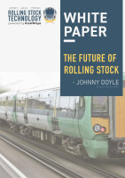 The cover page for the whitepaper The Future of Rolling Stock